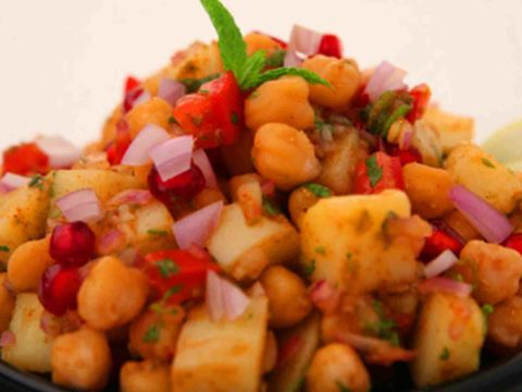 Chole Aloo Chaat In A Bowl