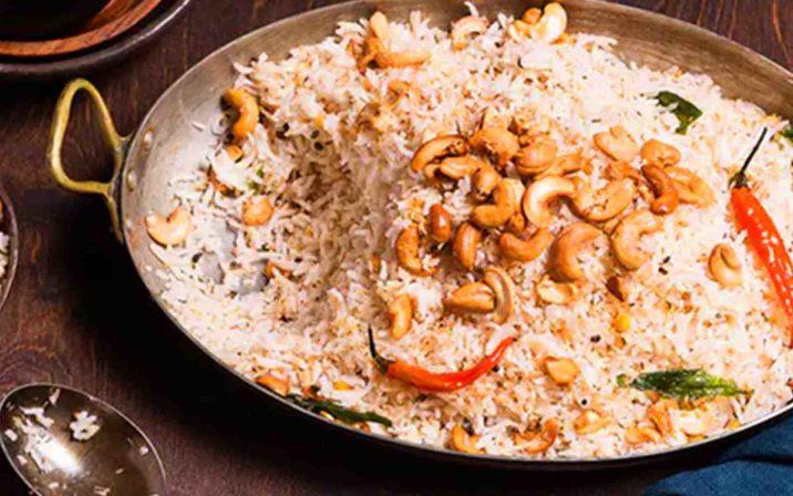 Indian Kaju Rice On Table