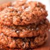Oatmeal Rasin Cookies On Table