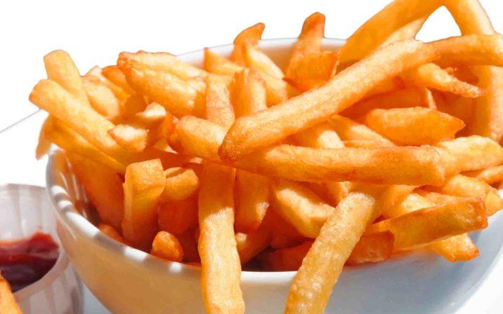 Yummy & Crispy Fried Potatoes In A Bowl