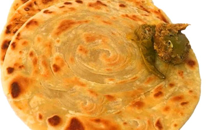 Lachay Daar Paratha With Achaar On It
