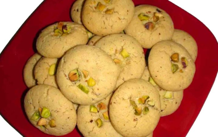 Instant Nan Khatai In A Red Plate